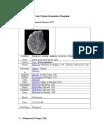 Species Mikro Fosil Phylum Foraminifera Plangtonik