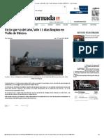 En Lo Que Va Del Año, Sólo 11 Días Limpios en Valle de México — La Jornada