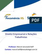 Direito Empresarial e Relações Trabalhista - Consumidor