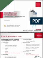 E300 Overload Relay Presentation - INTERNAL Long (updated 11052015).pptx