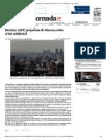 Rechaza ALDF Propuesta de Morena Sobre Crisis Ambiental — La Jornada