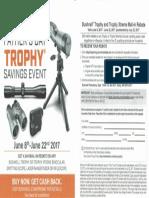 Bushnell Trophy Rebate