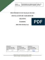 Procedimiento de Trabajo y Seguridad Tableros de Cocina y Baños Decor...