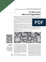Clínica além do pragmatismo