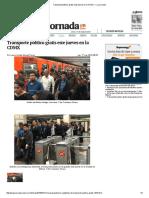 Transporte Público Gratis Este Jueves en La CDMX — La Jornada