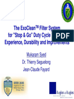 The ExoClean Filter System for Stop and Go