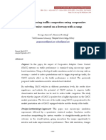 Towards Reducing Traffic Congestion Using Cooperative Adaptive Cruise Control on a Freeway With a Ramp