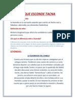 Lo q Esconde Tacna