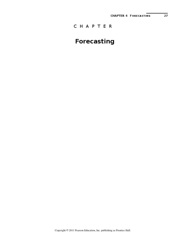 Chapter 4 forecasting solution manualc forecasting analysis fandeluxe Image collections