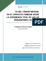 El Impacto Del Cancer Infantil en El Contexto Familiar Desde La Experiencia Vital de Losas Progenitoresas