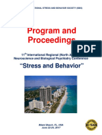 "Program and Proceedings - 11th International Regional ""Stress and Behavior"" Neuroscience and Biopsychiatry Conference (North America), June 22-24, 2017, Miami Beach, FL, USA"