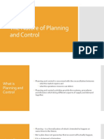 10. the Nature of Planning and Control