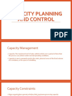 11. Capacity Planning and Control