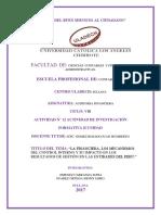 Mecanismos de control interno en las entidades del Perú