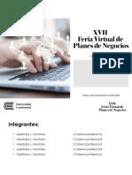 Formato de Presentación XVII Portafolio 2017 I