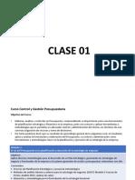Control y Gestión Presupuestaria Clase 01 PDF