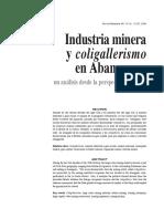Industria Minera y Coligallerismo en Abangares- Antonio Castillo.