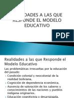 Realidades a Las Que Responde El Modelo Educativo Grupo 2