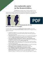 Tratamientos Naturales Para Desinflamar Las Hemorroides