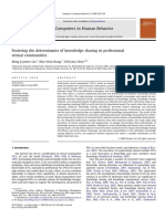 Fostering the Determinants of Knowledge Sharing in Professional Virtual Communities