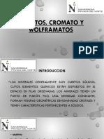 Cromatos, Bromatos y Wolframatos