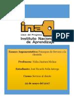 Ensayo Servicio Al Cliente Ricardo Solís