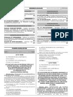 Congresista Israel Lazo (FP) - Ley Nº30568, Que Declara de Necesidad Pública e Interés Nacional La Modernización de La Infraestructura Vial de La Ruta PE-22 Carretera Central y La Creación de La Nueva Autopista Ce - Copia