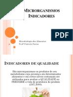 Microbiologia Dos Alimentos - Aula 03 - Microrganismos Indicadores
