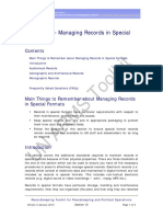 Managing Records Special Format