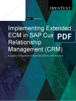 SAP Extended ECM Solution Accelerator for SAP CRM