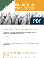 Técnicas Para La Educación Social