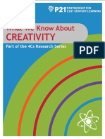 P21 4Cs Research Brief Series - Creativity