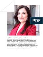 Lola Bañón, periodista