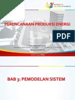 Perencanaan Produksi Energi-Bab-3-Pemodelan Sistem.pptx