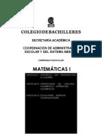 Matemáticas I Bachiller