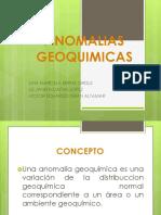 ANOMALIAS GEOQUIMICAS