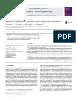 Advanced Computational Model for Peltier Effect Based Refrigerators
