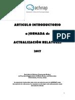 Articulo Introductorio a Jornada de Actualización 2017 v3