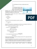 informe N°9 quimica analitica cuantitativa dureza del agua