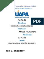 Práctica Final Gestión Humana II