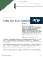 Como Criar PDFs Rapidamente