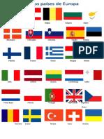 Banderas de Los Paises de Europa