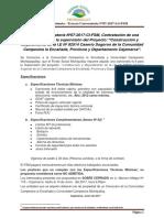Contratación de Una Camioneta Pyto Sogoron - Tercera Convocatoria N07-2017-LG-FSM