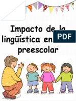 Impacto de la lingüística en edad preescolar