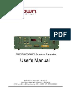 LPFM_Man30-150-300 | Amplifier | Transmitter