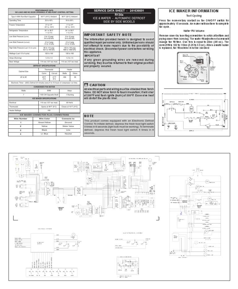 Frigidiare PLHS69EESS2 Refrigerator Tech Sheet 241636601