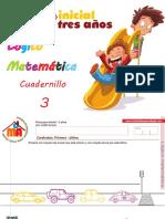 Cuadernillo 3 Logico Matematica 3 Años