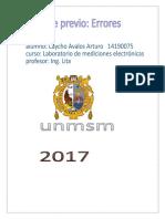 Cuestionario Previo Errores,Labo de Mediciones
