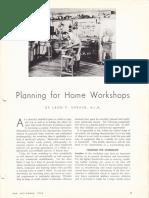 Planning for Home Workshops