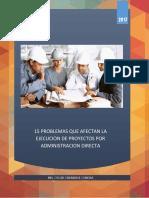 15 Problemas que Afectan la Ejecución de Proyectos por Administración Directa - Oscar Chariarse.pdf
